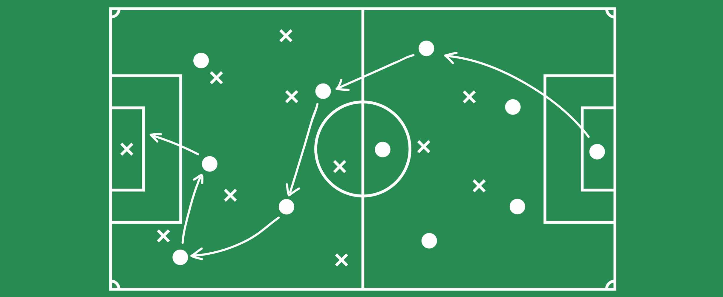 Green and white game plan
