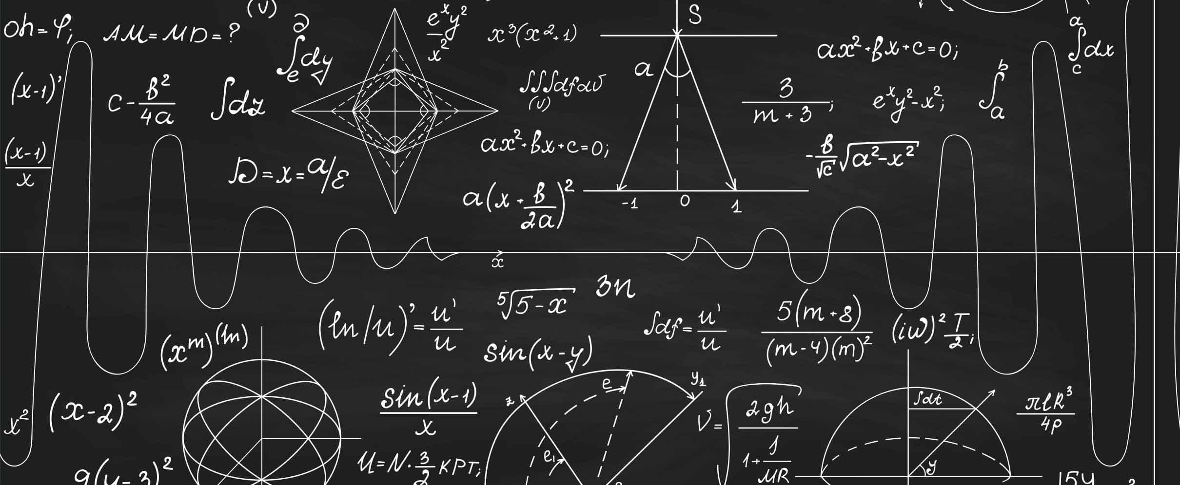 Formulas written in white on a black background.